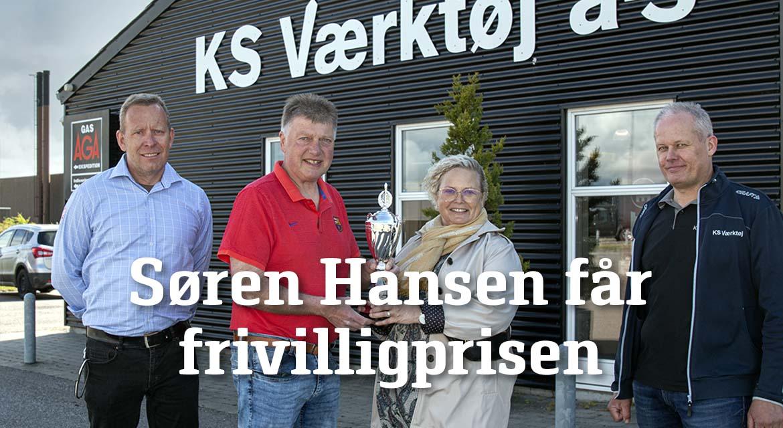 Read more about the article SØREN HANSEN FÅR FRIVILLIGHEDSPRISEN